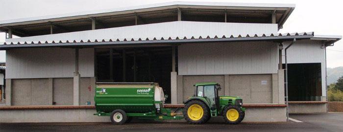 萩牧場 飼料庫